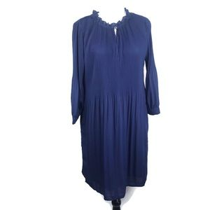 Halston Ladies Blue Pleated Dress Size M NWOT